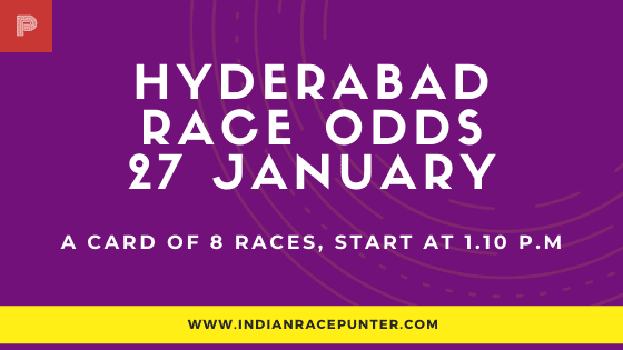 Hyderabad Race Odds 19 January, Race Odds,