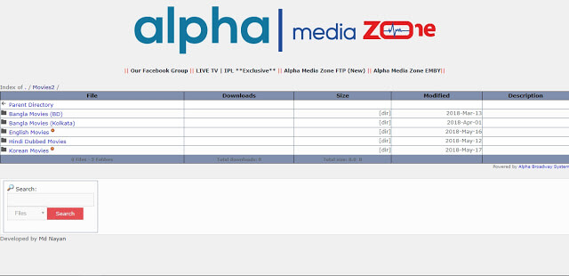 Alpha Media Zone ftp server