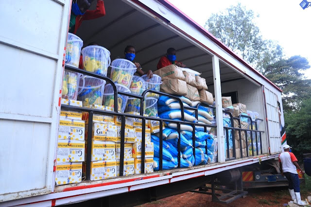 Governor Mike Sonko food distribution trucks.