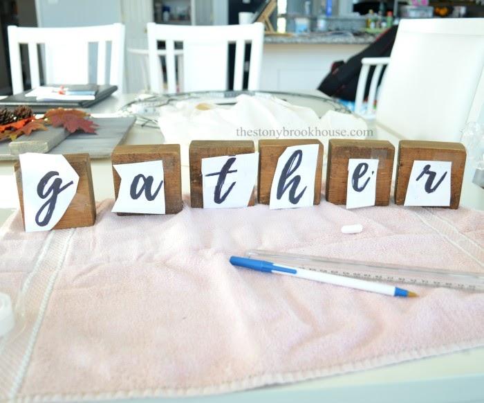 printed letters on wood blocks