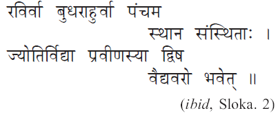 Astrologer's Planet Mercury-Sloka 2