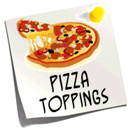 http://quizlet.com/11069496/food-pizza-toppings-flash-cards/