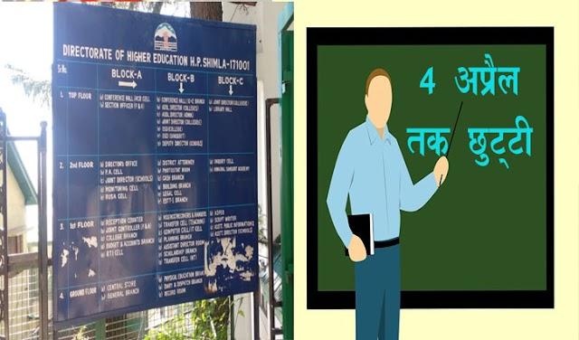 हिमाचल: स्कूलों में शिक्षकों-गैर शिक्षकों की 4 अप्रैल तक छुट्टी, 5 से शुरू होगी दाखिला प्रक्रिया