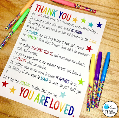 A Free Thank You Letter to a Teacher