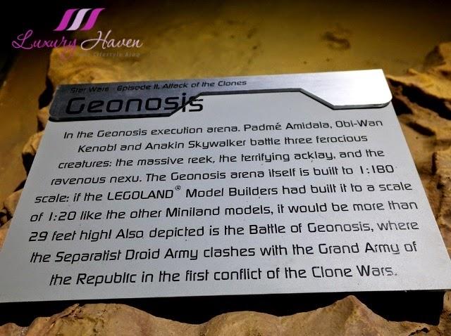 lego star wars miniland model display geonosis