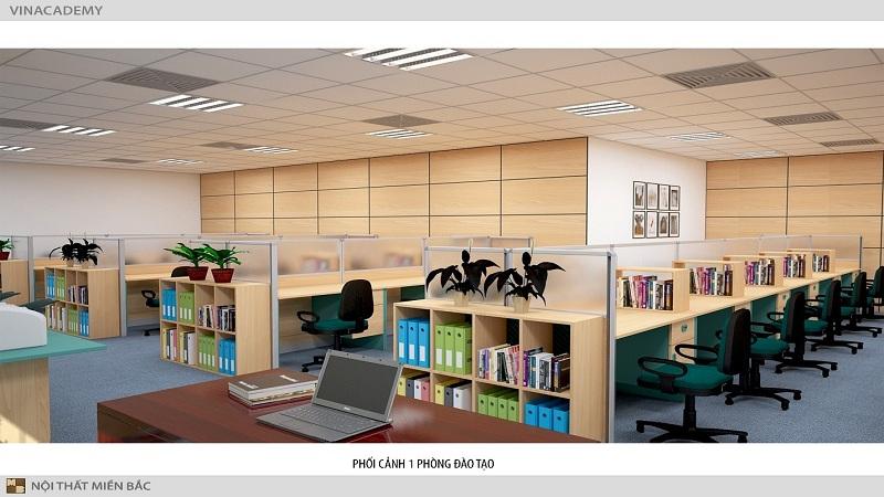 Thiết kế nội thất văn phòng hiện đại sử dụng chất liệu tự nhiên