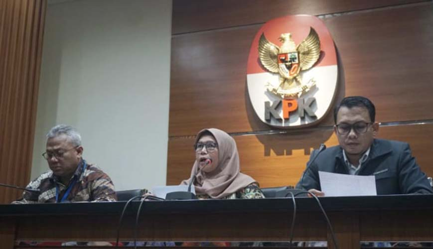 KPK dan KPU gelar konferensi pers