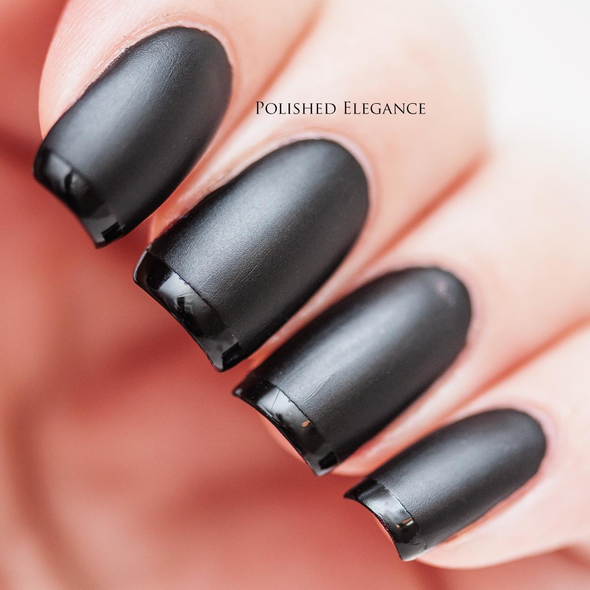 Polished Elegance: Glossy tips