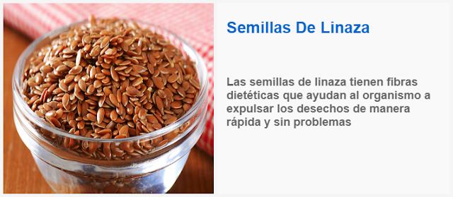 Las semillas de linaza tienen fibras dieteticas que ayudan al organismo a expulsar los desechos de manera rapida y sin problemas