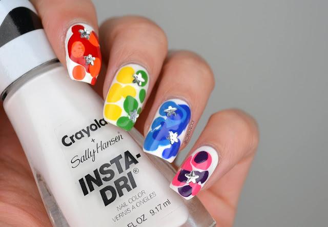 Rainbow Blob Nail Art