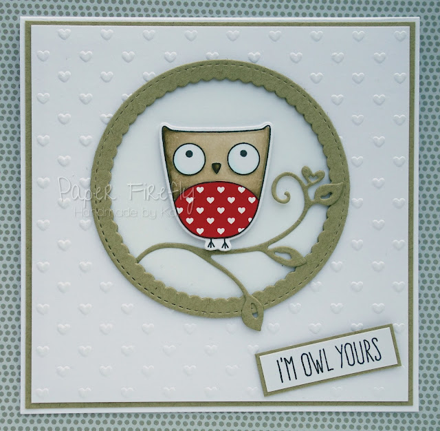 Cute funny owl card (owl from My Favourite Things)