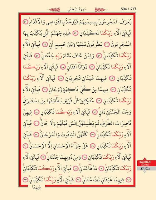 Rahman Suresi Okunuşu, Anlamı ve Fazileti