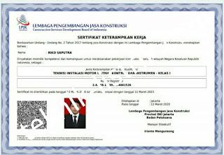 Teknisi bersertifikat