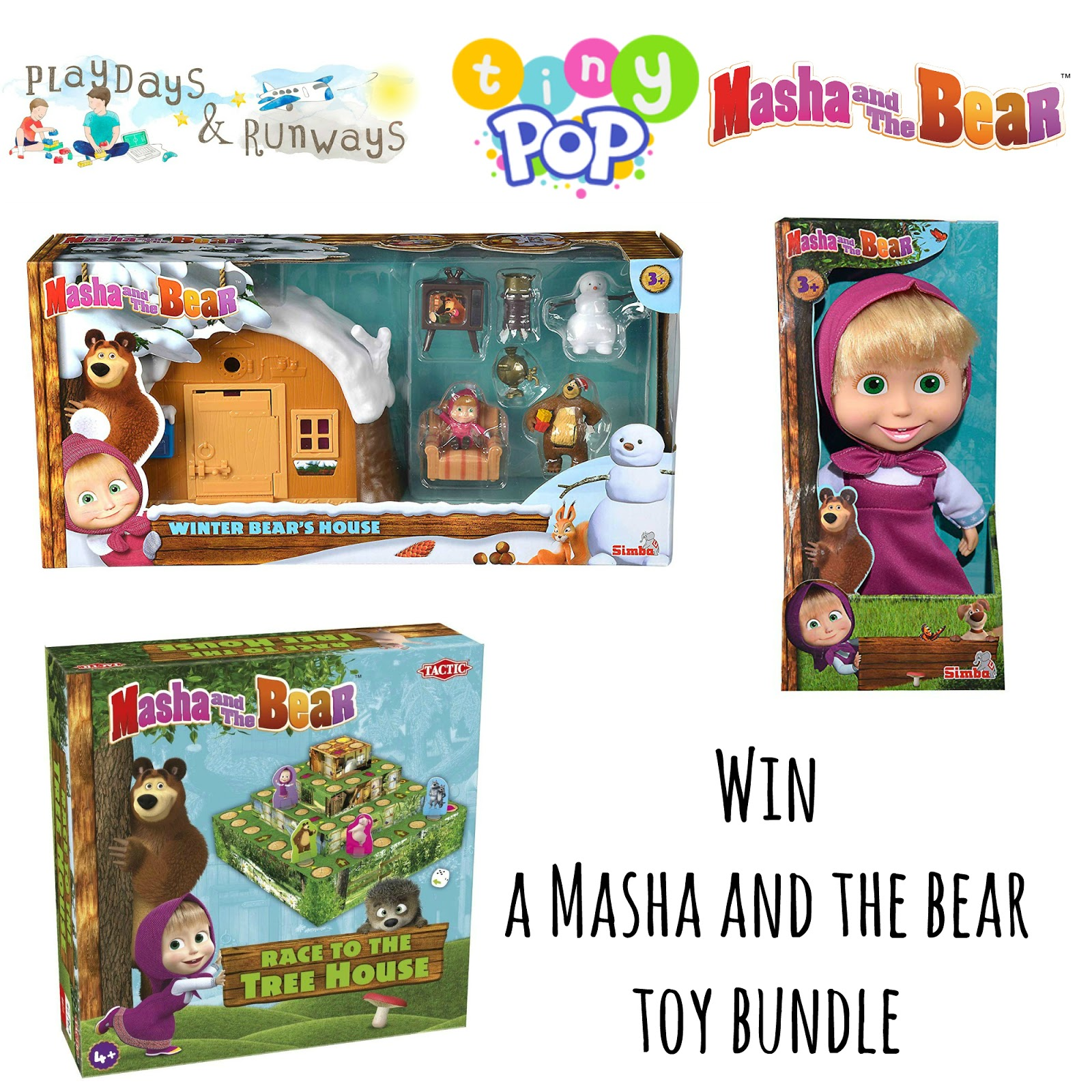 Tiny Pop Masha and Bear giveaway