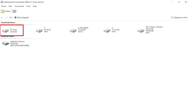 Diskinternals linux reader - Select linux partition