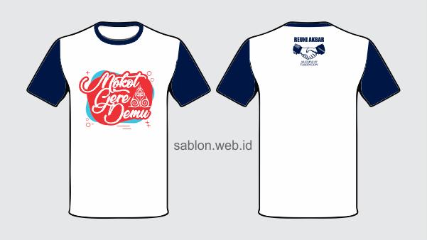 Sablon Kaos Reuni Sekolah SMP SMA Gratis Desain  Sablon