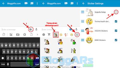 Cara Menghapus Sticker BBM Android