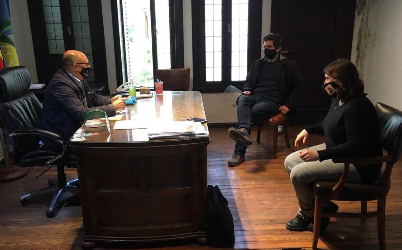 Obra pública: Vismara y Di Gerónimo se reunieron con el intendente