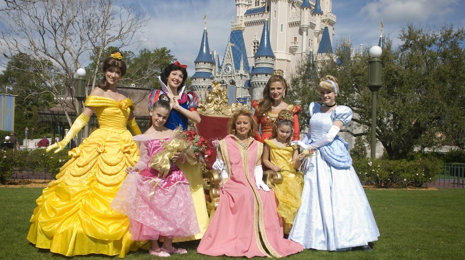 Onde encontrar as princesas da Disney Orlando