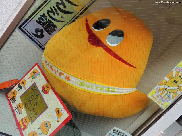 Mascota Orante-kunb de Orange Street en Asakusa, Tokio