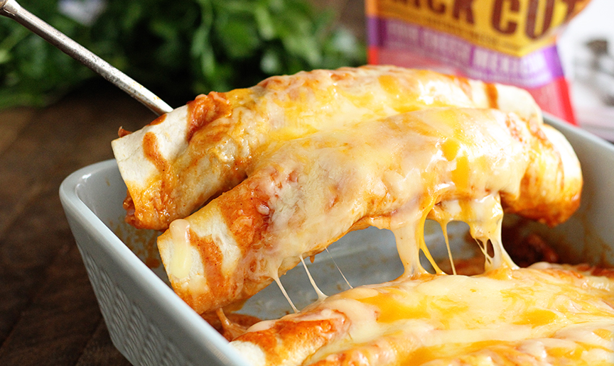 5 Ingredient Beef Enchiladas