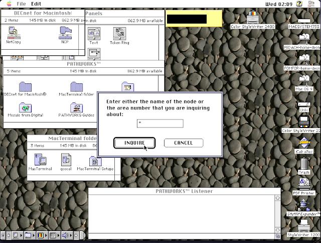 DECnet for Macintosh: Thursby TSSNET for Macintosh: Copy node database - Screen 4