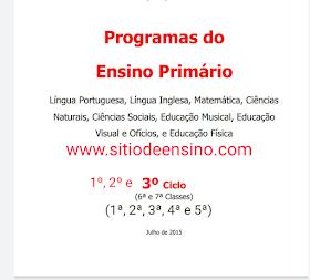 Programas do ensino primário em pdf