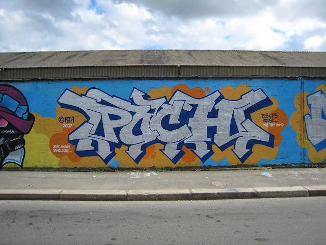 """Peinture réalisée avec """"Poch"""" et """"Rock"""" - Rennes 2007"""