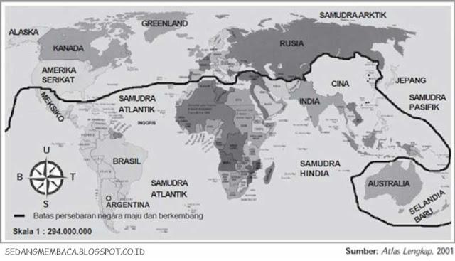 Peta Dunia Negara Maju dan Negara Berkembang