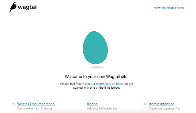 wagtail start page