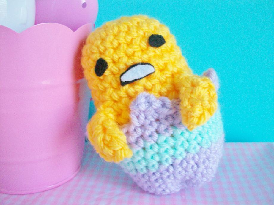 How to make Gudetama Amigurumi 아미구루미 crochet Tutorial ぐで ... | 692x922