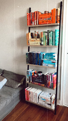 Rainbow Bookshelf - Not part of the declutter