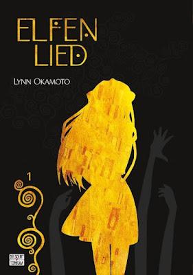 """couverture de """"ELFEN LIED DOUBLE EDITION T1"""" de Lynn Okamoto chez Delcourt Tonkam"""