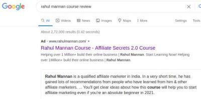 Rahul mannan course review in hindi