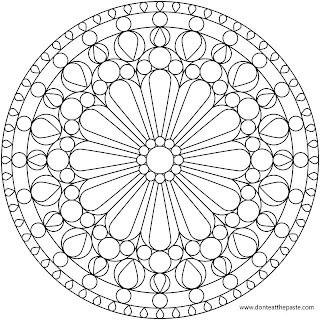 Rose Window Mandala Coloring Page