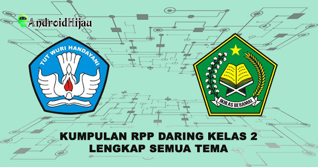 RPP Daring Kelas 2 Tema 1 2 3 4 5 6 7 8, RPP k13 terbaru 1 halaman kelas 2