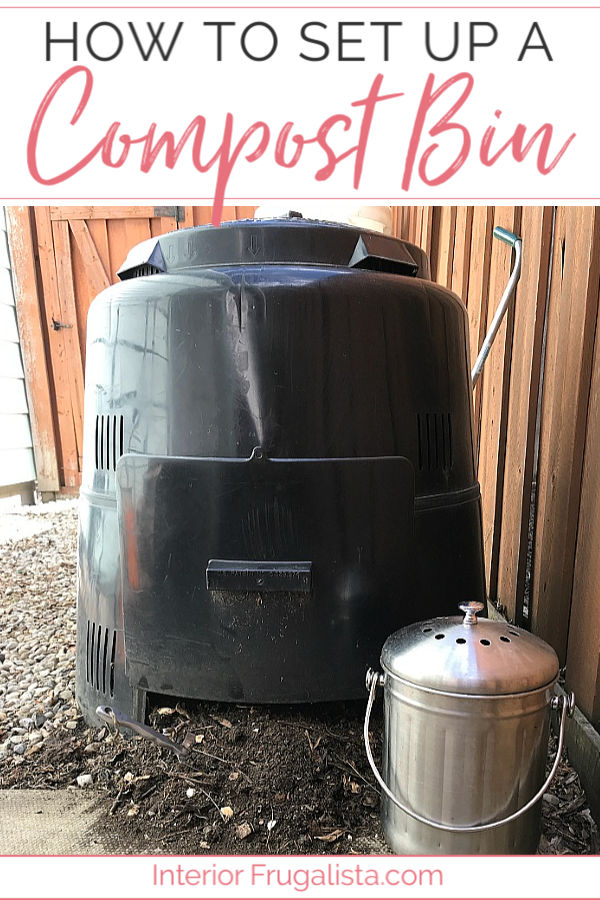 How to recycle a 50-gallon plastic container into an eco-friendly rain water barrel collection system plus how to compost in a small urban backyard.#diyoutdoorprojects #compostbin #organicgardening