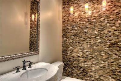 ห้องน้ำสวยด้วยลวดลายหินธรรมชาติ