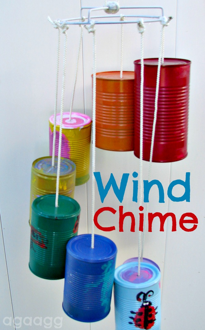 wind chime-kid craft - A girl and a glue gun