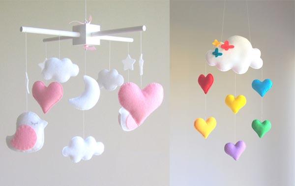 keçeden kalp ve bulutlar