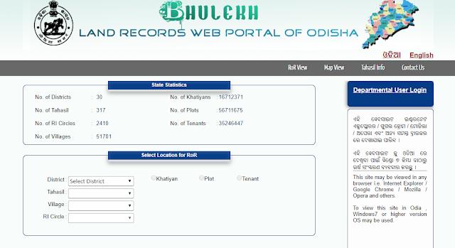 Bhulekh Odisha Online Portal