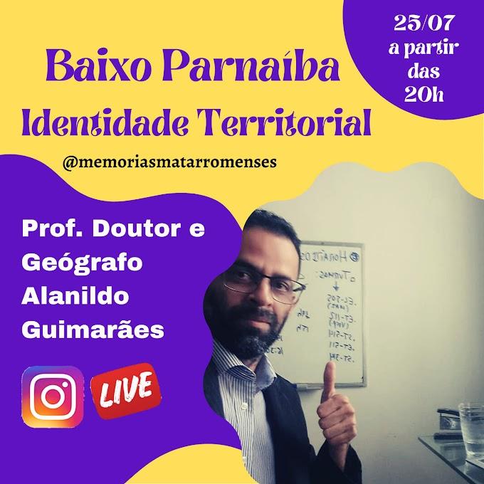 Perfil no Instagram  de Memôrias Matarromense realizará live com o geógrafo Alanildo Guimarães.