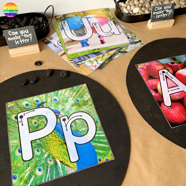 Alphabet Playdough Mats for Pre-Writers | you clever monkey