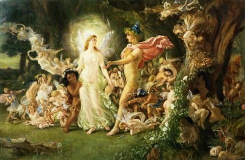 Oberon e Titania - Sir Joseph Noel Paton