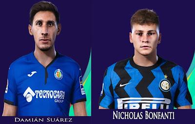 PES 2021 Faces Damián Suárez & Nicholas Bonfanti by Rachmad ABs