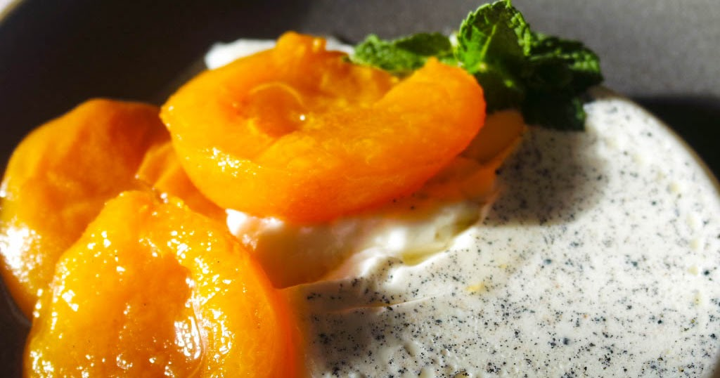 ... Robert Ridge: Honey poached apricots with vanilla cardamom panna cotta