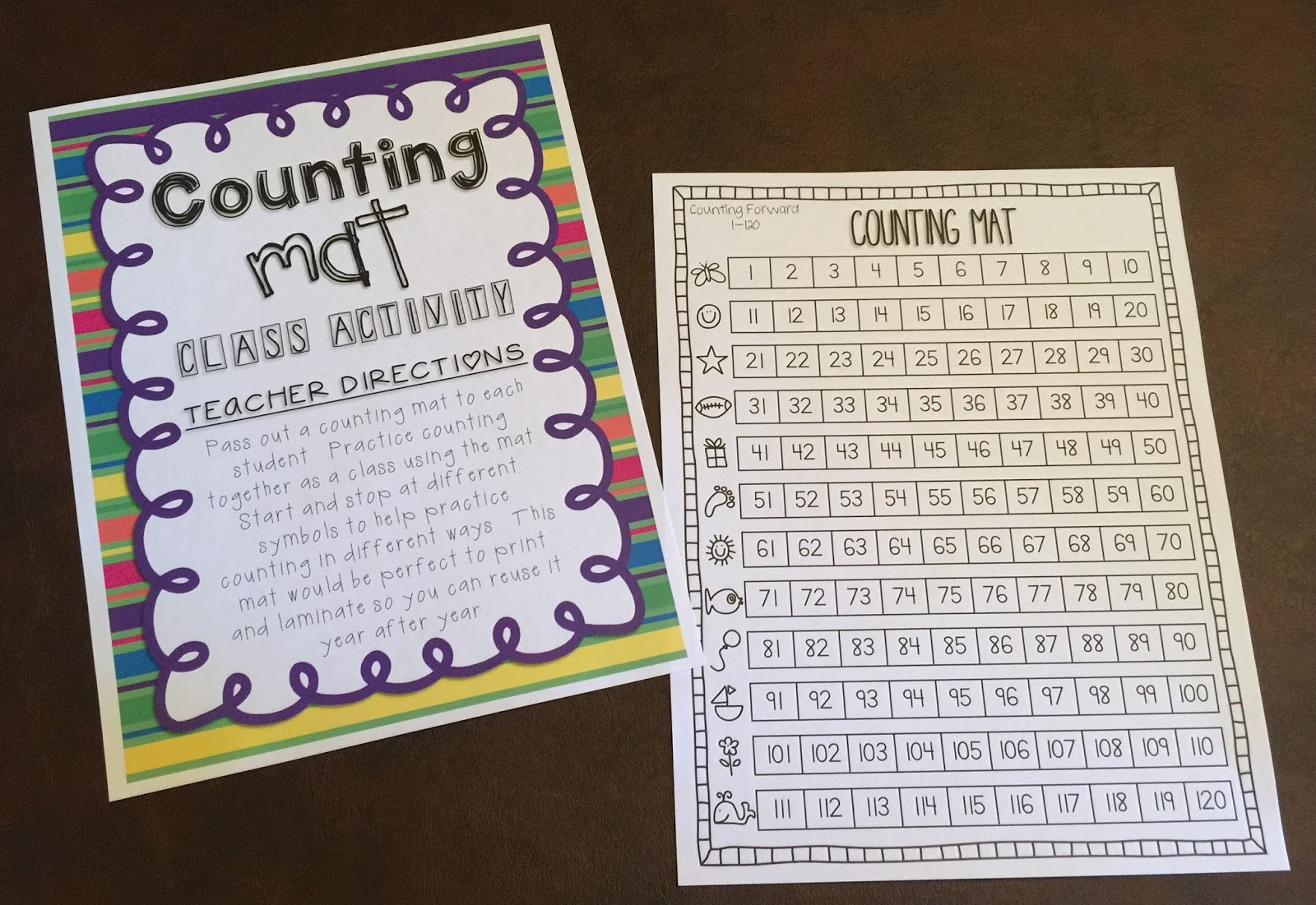 Teaching With Terhune Counting And Writing Numbers 1 120