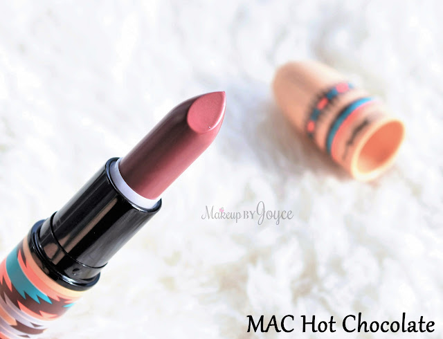 MAC Vibe Tribe 2016 Collection Hot Chocolate Lipstick Swatch Limited Edition