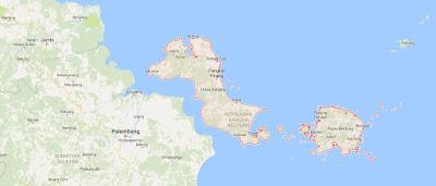 Peta Wilayah Provinsi Bangka Belitung