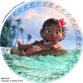 Moana Baby Cupcakes Toppers or Free Printable Candy Bar Labels.